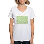 Strawberry pattern Women's V-Neck T-Shirt