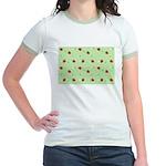 Strawberry pattern Jr. Ringer T-Shirt