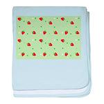 Strawberry pattern baby blanket
