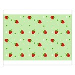 Strawberry pattern Small Poster