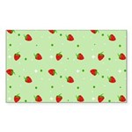 Strawberry pattern Sticker (Rectangle 50 pk)