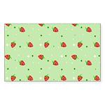 Strawberry pattern Sticker (Rectangle 10 pk)