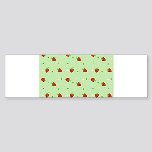 Strawberry pattern Sticker (Bumper)