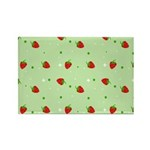 Strawberry pattern Rectangle Magnet (100 pack)