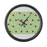 Strawberry pattern Large Wall Clock