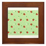 Strawberry pattern Framed Tile