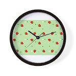 Strawberry pattern Wall Clock
