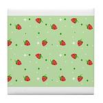 Strawberry pattern Tile Coaster