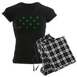 Lucky Irish Four Leafed Clove Women's Dark Pajamas