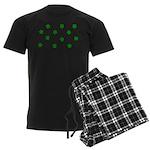 Lucky Irish Four Leafed Clove Men's Dark Pajamas