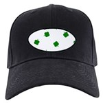Lucky Irish Four Leafed Clove Black Cap