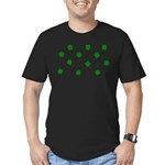 Lucky Irish Four Leafed Clove Men's Fitted T-Shirt