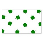 Lucky Irish Four Leafed Clove Sticker (Rectangle 5