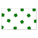 Lucky Irish Four Leafed Clove Sticker (Rectangle 1