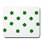 Lucky Irish Four Leafed Clove Mousepad