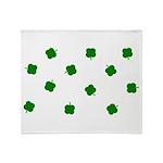 Lucky Irish Four Leafed Clove Throw Blanket