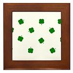 Lucky Irish Four Leafed Clove Framed Tile