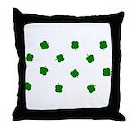 Lucky Irish Four Leafed Clove Throw Pillow
