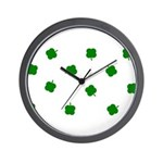 Lucky Irish Four Leafed Clove Wall Clock