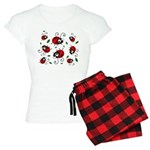 Cute Ladybug pattern Women's Light Pajamas