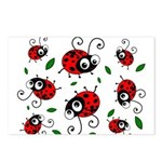 Cute Ladybug pattern Postcards (Package of 8)