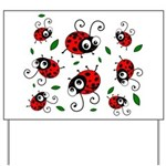 Cute Ladybug pattern Yard Sign