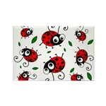 Cute Ladybug pattern Rectangle Magnet (100 pack)