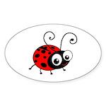 Cute Ladybug Sticker (Oval 10 pk)