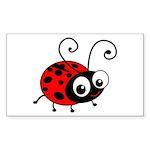 Cute Ladybug Sticker (Rectangle)