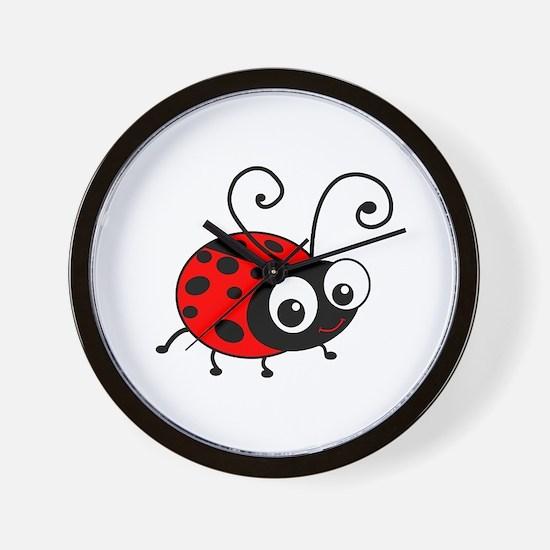 Cute Ladybug Wall Clock