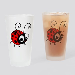 Cute Ladybug Drinking Glass
