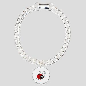 Cute Ladybug Charm Bracelet, One Charm