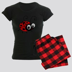 Cute Ladybug Women's Dark Pajamas