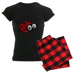 Cute Ladybug Women's Dark Pajamas