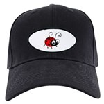 Cute Ladybug Black Cap