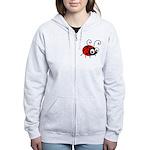 Cute Ladybug Women's Zip Hoodie