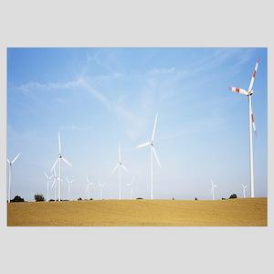 Wind turbines on a field, Germany