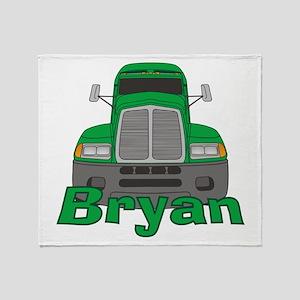 Trucker Bryan Throw Blanket