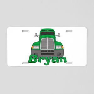 Trucker Bryan Aluminum License Plate