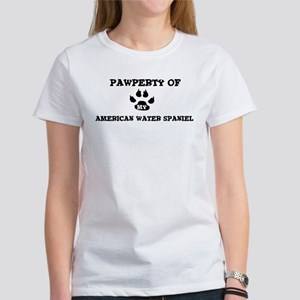 Pawperty: American Water Span Women's T-Shirt