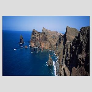 Rock formations on the coast, Ponta do Rosto, Made