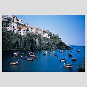 Boats in the sea, Camara De Lobos, Madeira, Portug