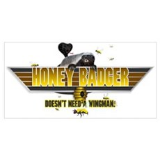Honey Badger Top Gun Wingman Wall Art Poster