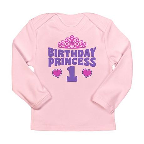 1st Birthday Princess Long Sleeve Infant T-Shirt