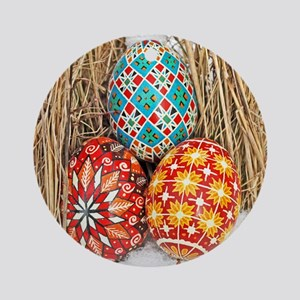 Pysanky in Snow Ornament