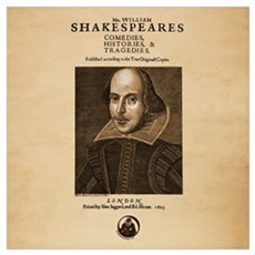 First Folio Wall Art Poster