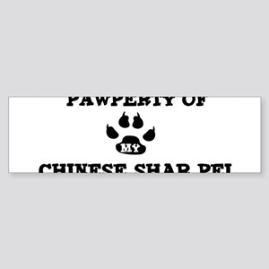 Pawperty: Chinese Shar Pei Bumper Sticker