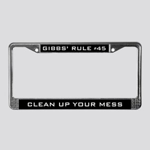 NCIS Gibbs' Rule #45 License Plate Frame