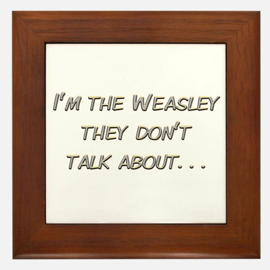 Weasley Redhead Framed Tile