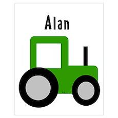 Alan - Tractor Wall Art Poster